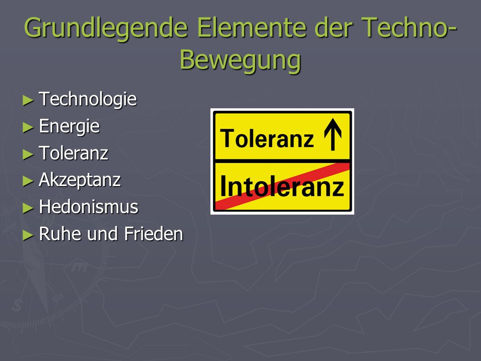 Grundlegende Elemente der Techno-Bewegung