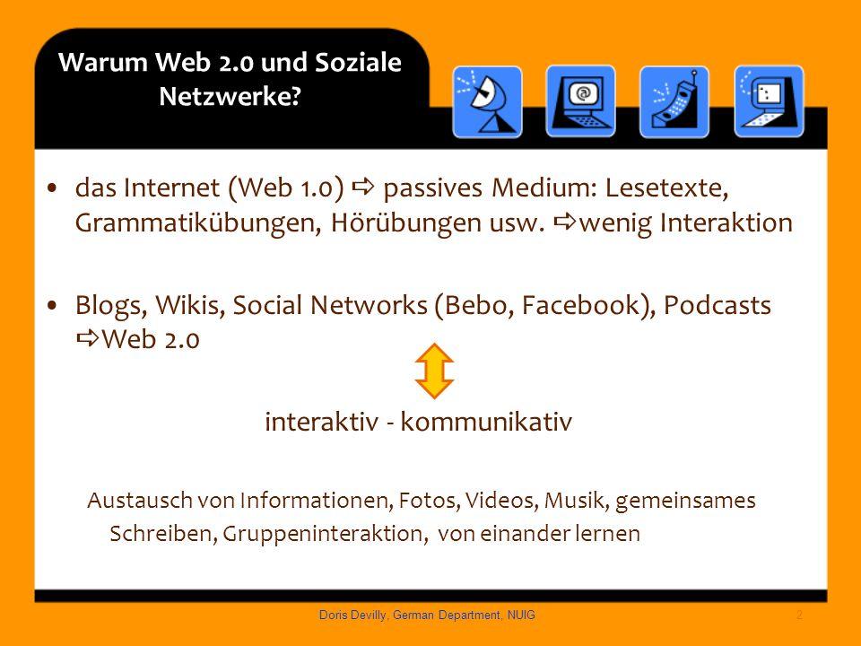 Warum Web 2.0 und Soziale Netzwerke