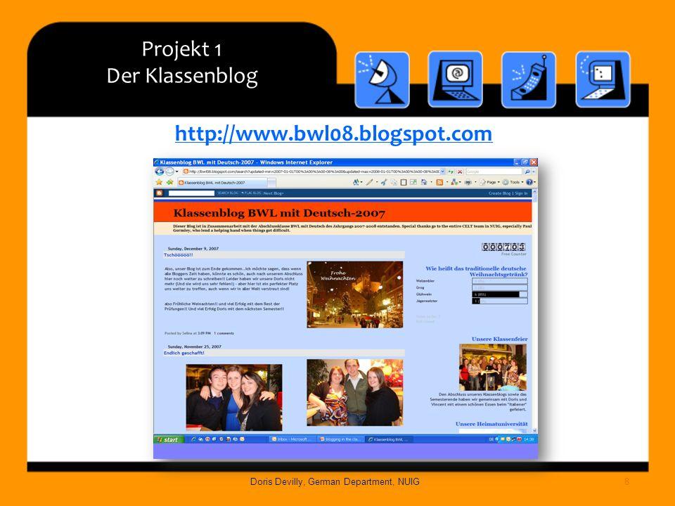 Projekt 1 Der Klassenblog