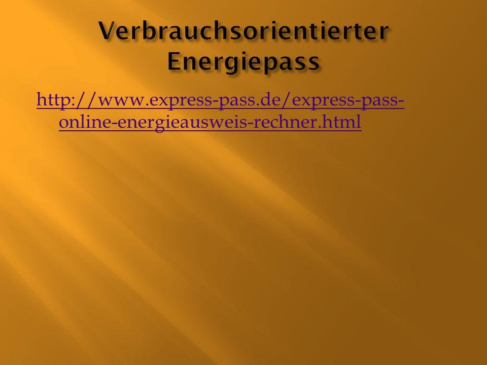 Verbrauchsorientierter Energiepass