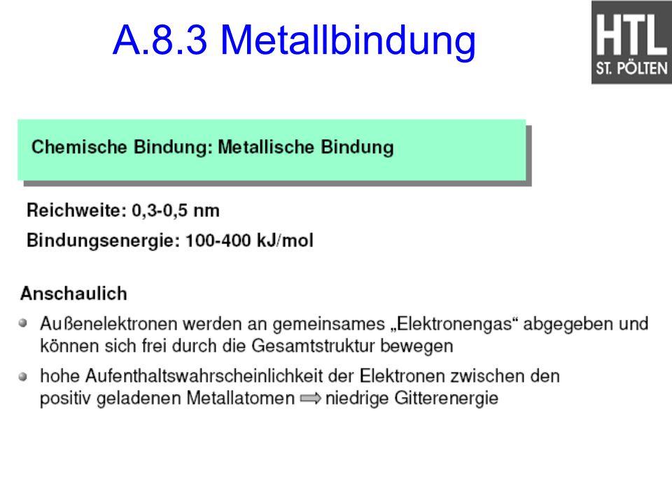 A.8.3 Metallbindung