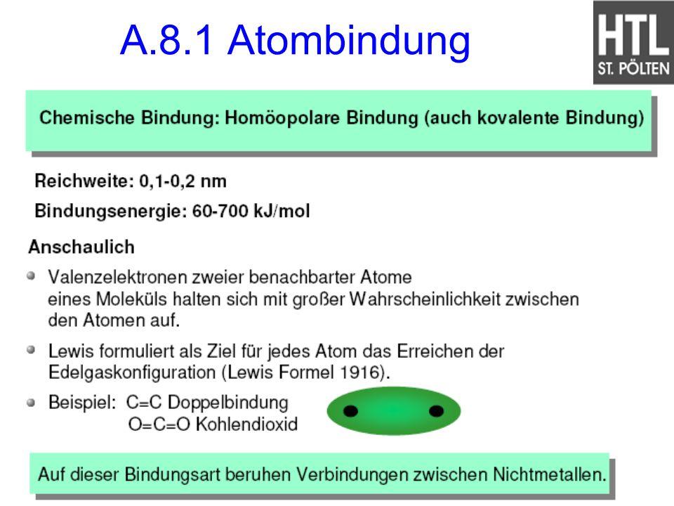 A.8.1 Atombindung