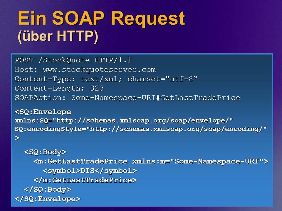 Ein SOAP Request (über HTTP)