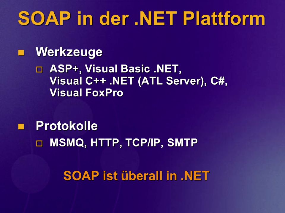 SOAP in der .NET Plattform
