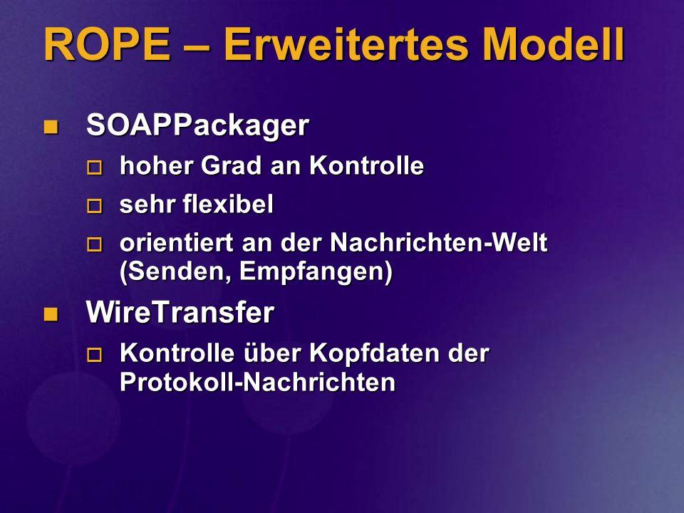 ROPE – Erweitertes Modell
