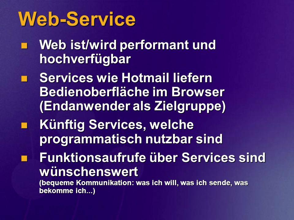 Web-Service Web ist/wird performant und hochverfügbar