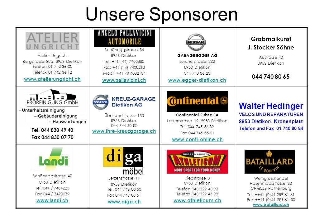 Unsere Sponsoren Walter Hedinger Grabmalkunst J. Stocker Söhne