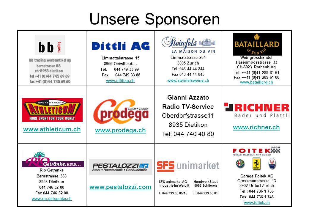 Unsere Sponsoren Gianni Azzato Radio TV-Service Oberdorfstrasse11