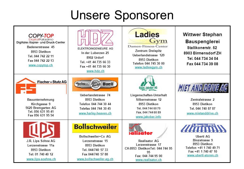 Unsere Sponsoren Wittwer Stephan Bauspenglerei Stallikonerstr. 52