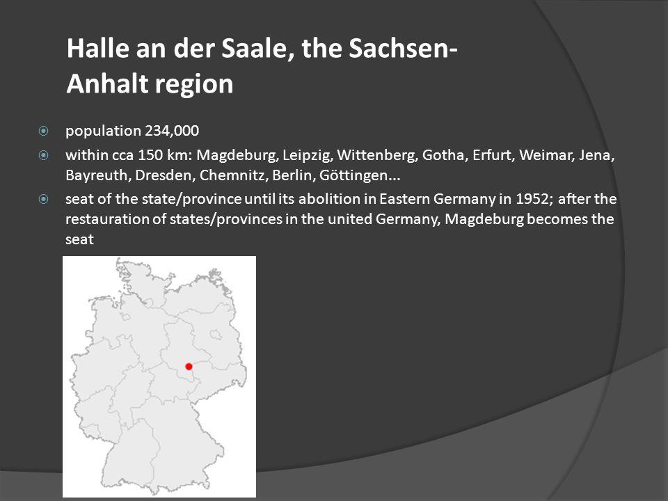 Halle an der Saale, the Sachsen-Anhalt region