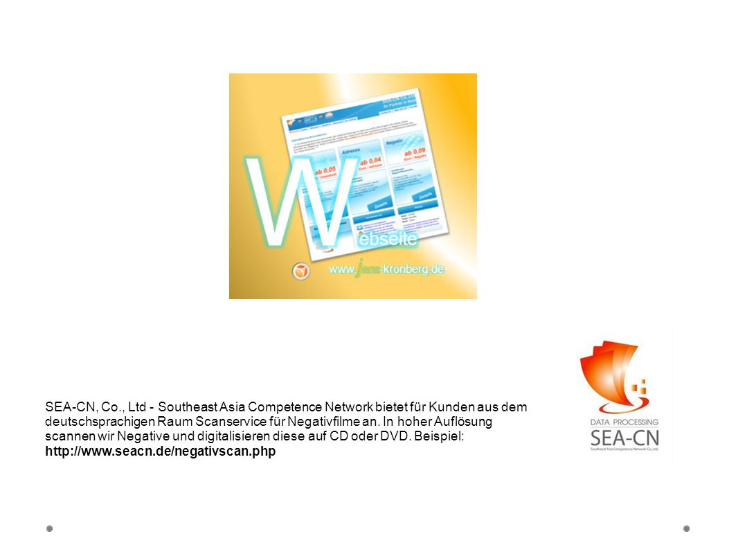 Webseite SEA-CN Co., Ltd.