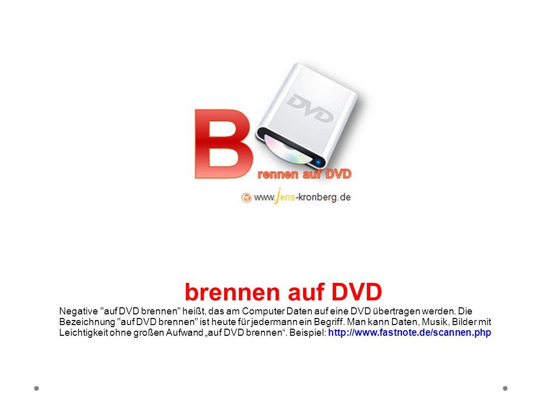 brennen auf DVD