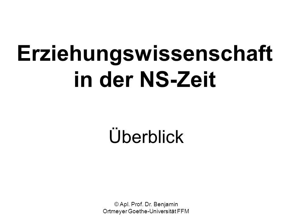 Erziehungswissenschaft in der NS-Zeit