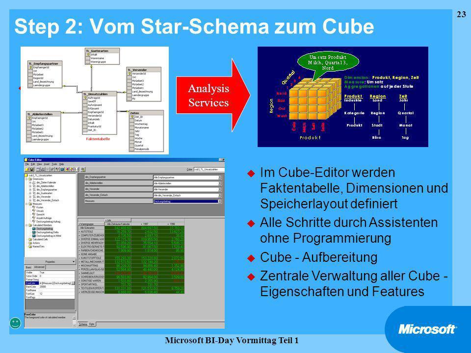 Step 2: Vom Star-Schema zum Cube