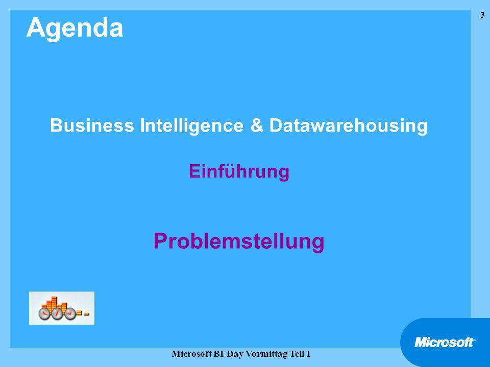 Business Intelligence & Datawarehousing Einführung Problemstellung