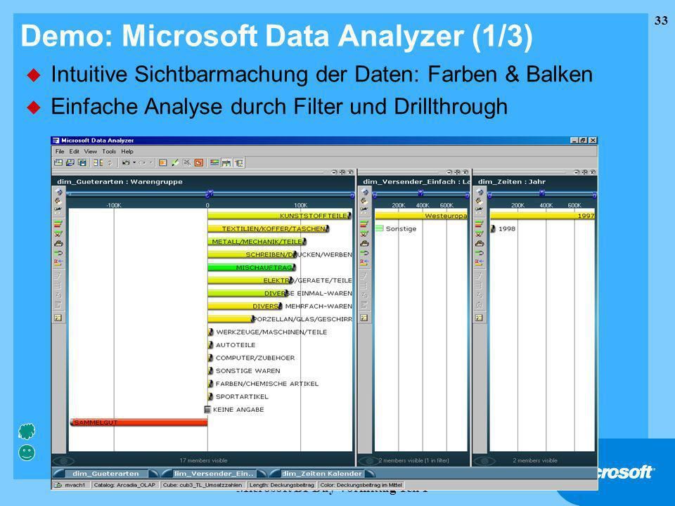 Demo: Microsoft Data Analyzer (1/3)