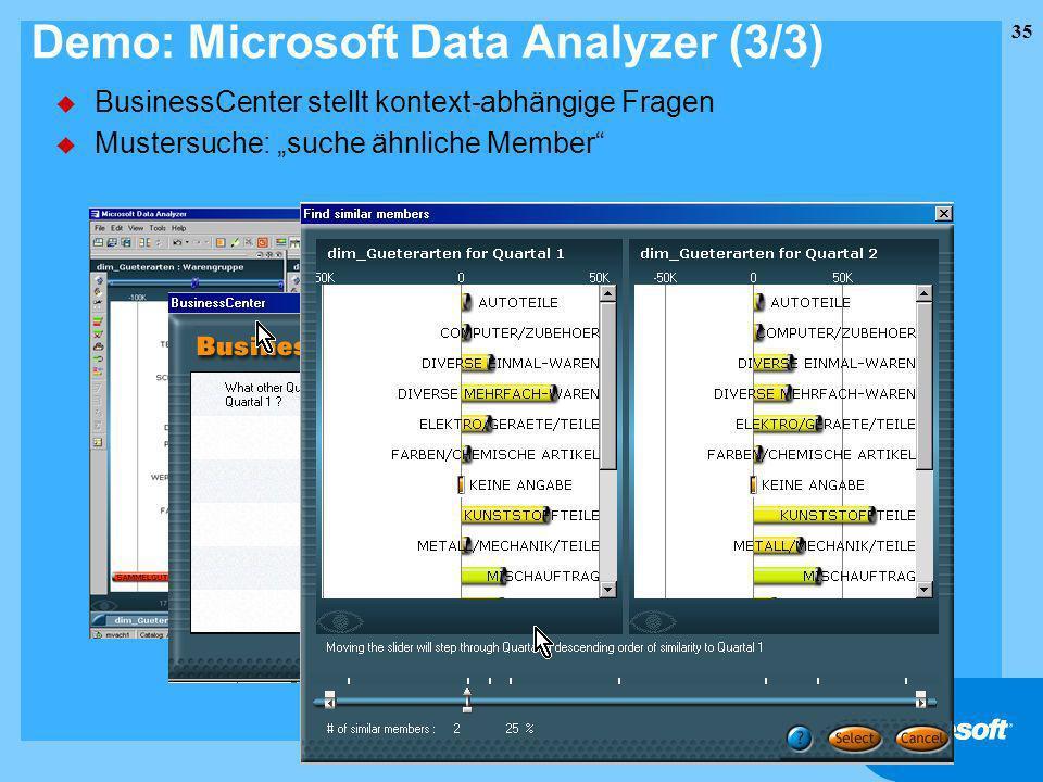 Demo: Microsoft Data Analyzer (3/3)