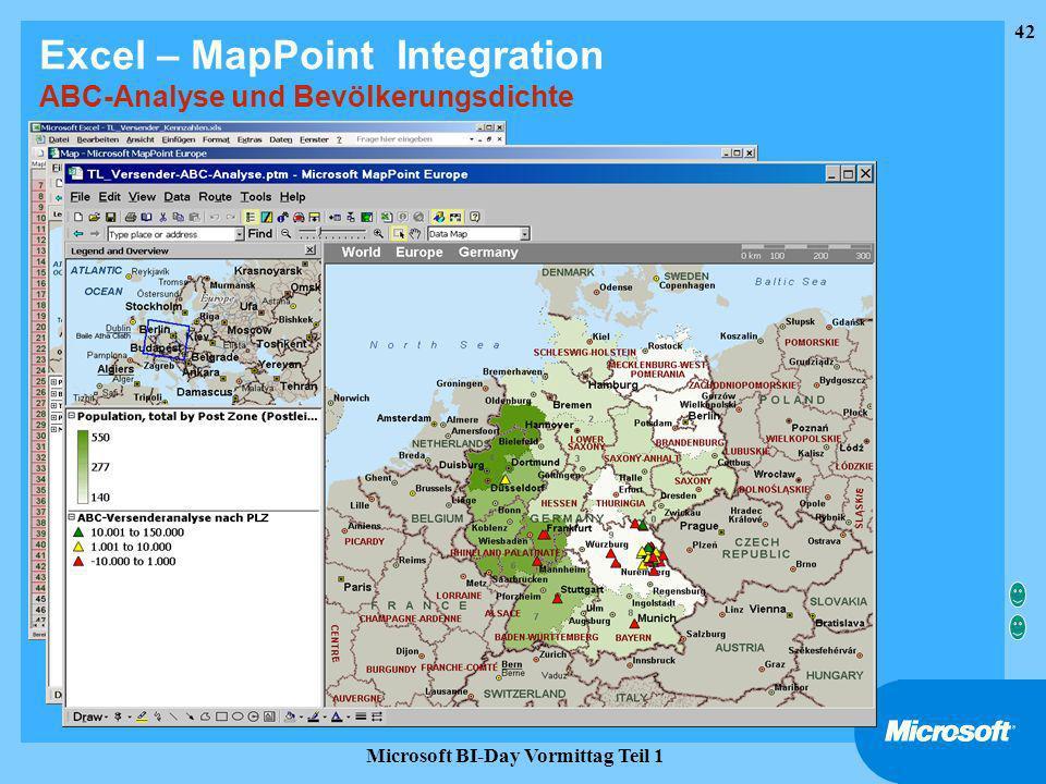 Excel – MapPoint Integration ABC-Analyse und Bevölkerungsdichte