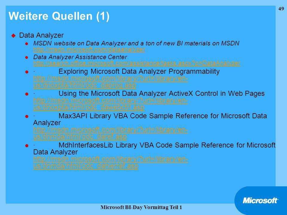 Microsoft BI-Day Vormittag Teil 1