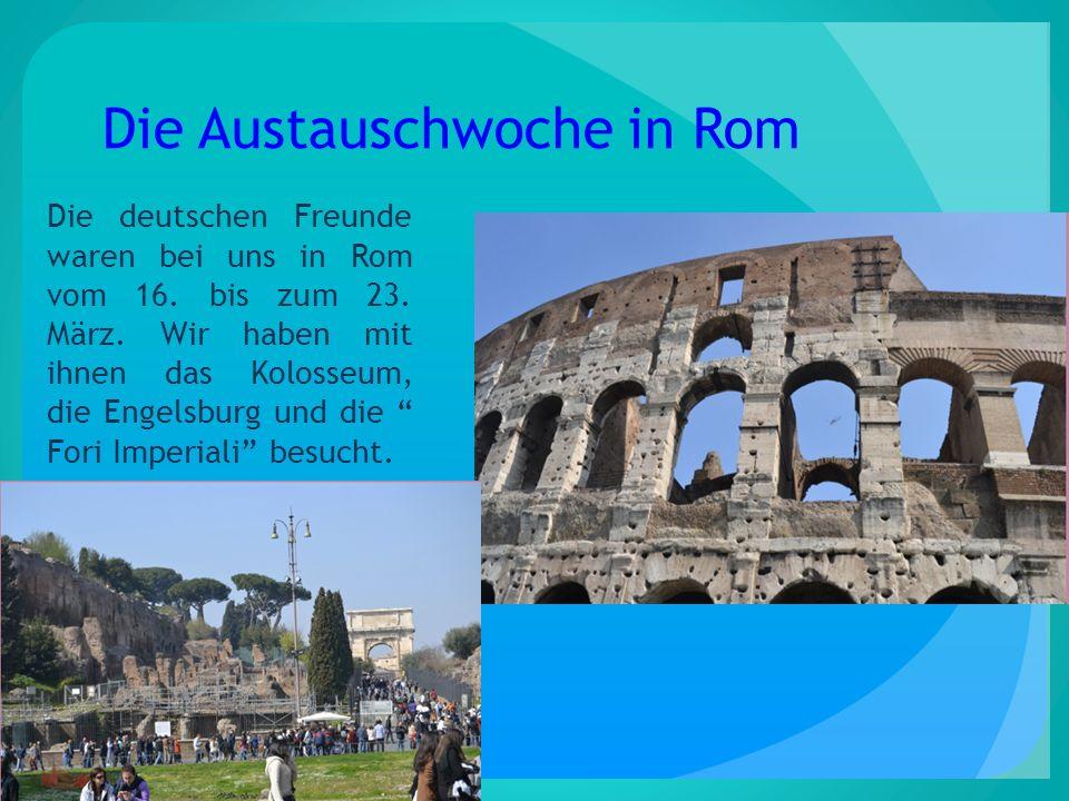 Die Austauschwoche in Rom