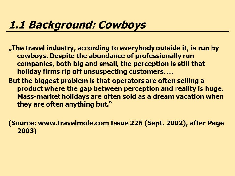 1.1 Background: Cowboys