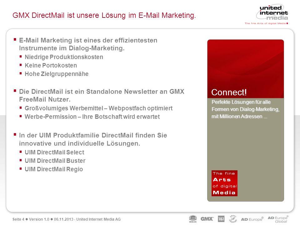 GMX DirectMail ist unsere Lösung im E-Mail Marketing.