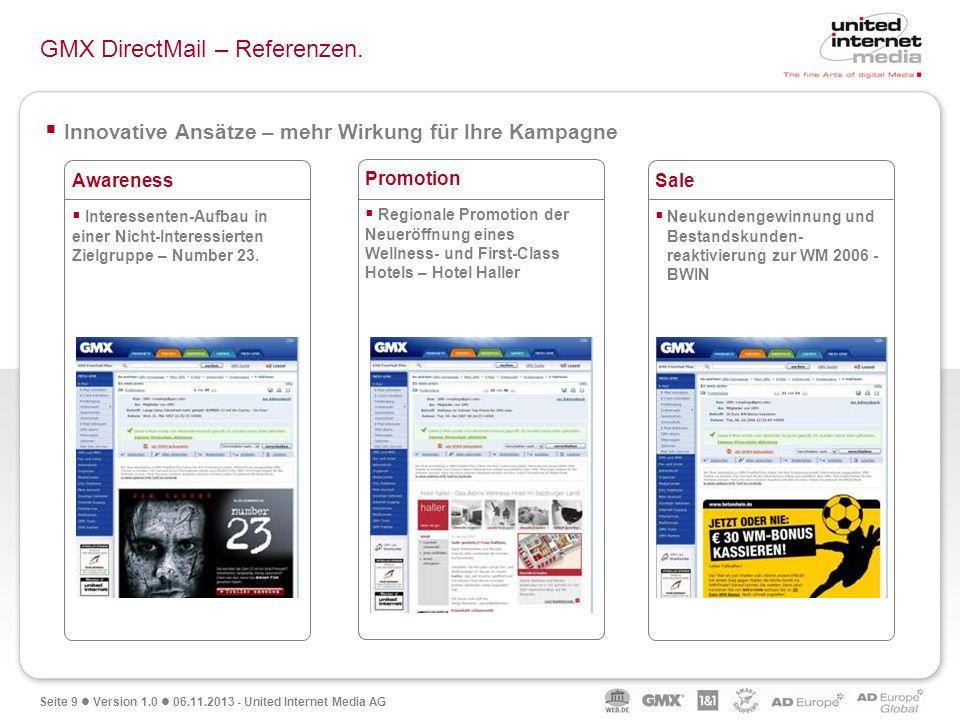 GMX DirectMail – Referenzen.
