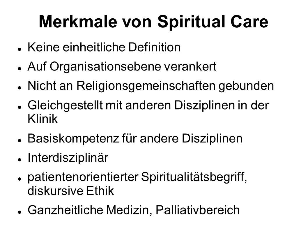 Merkmale von Spiritual Care