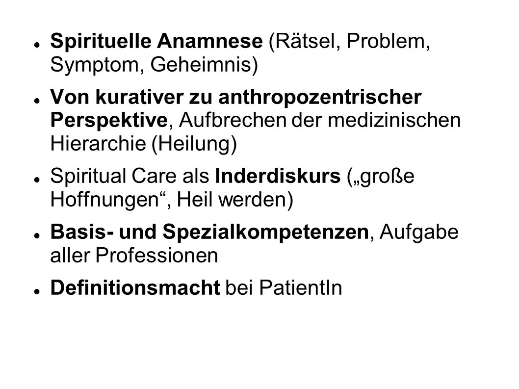 Spirituelle Anamnese (Rätsel, Problem, Symptom, Geheimnis)