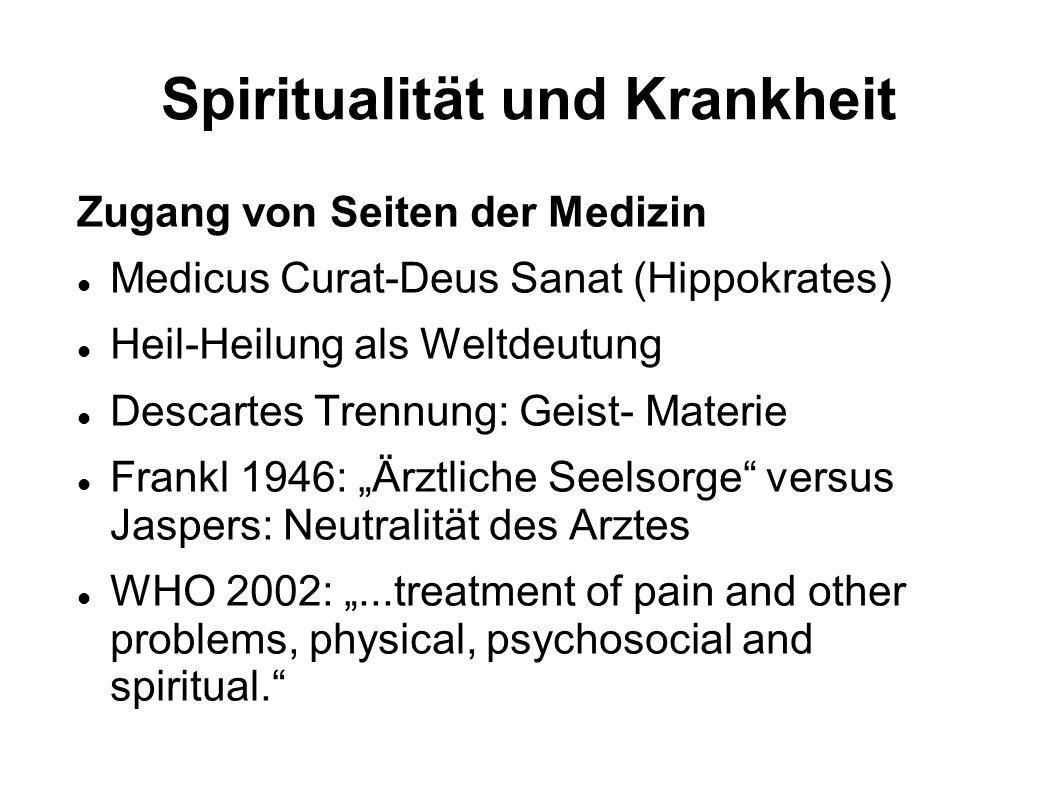 Spiritualität und Krankheit