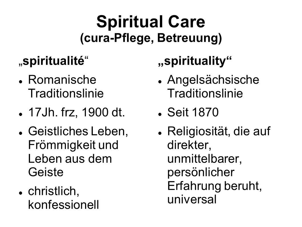 Spiritual Care (cura-Pflege, Betreuung)