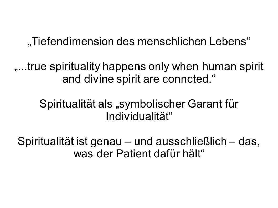 """""""Tiefendimension des menschlichen Lebens"""