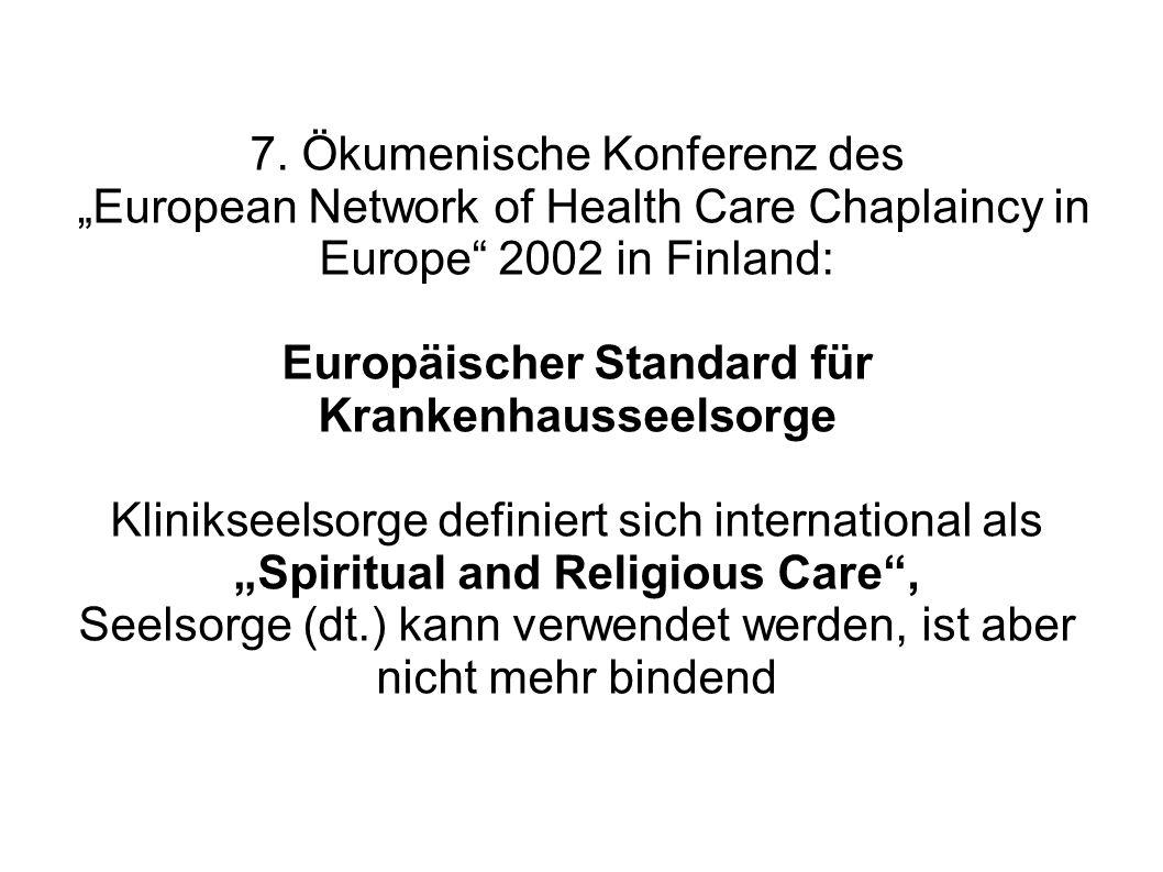 Europäischer Standard für Krankenhausseelsorge