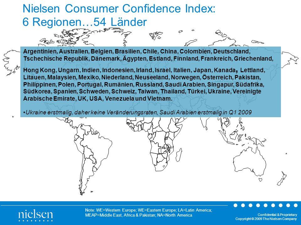 Nielsen Consumer Confidence Index: 6 Regionen…54 Länder