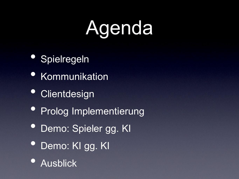 Agenda Spielregeln Kommunikation Clientdesign Prolog Implementierung