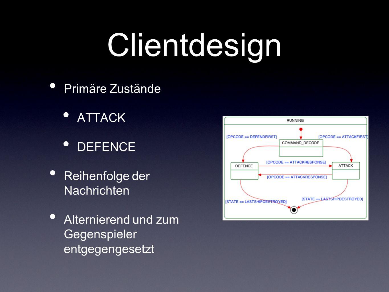 Clientdesign Primäre Zustände ATTACK DEFENCE