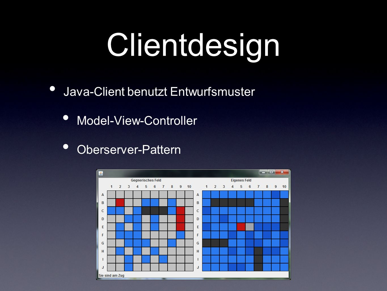 Clientdesign Java-Client benutzt Entwurfsmuster Model-View-Controller