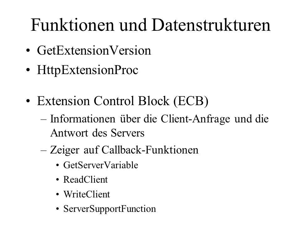 Funktionen und Datenstrukturen