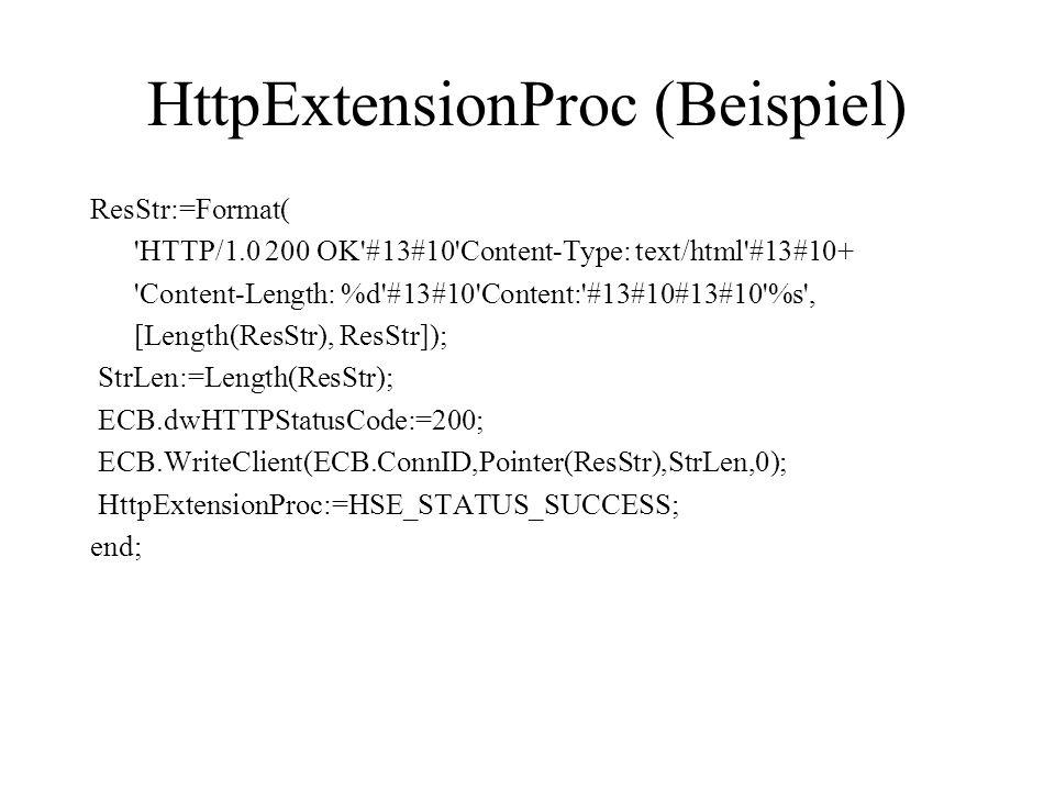 HttpExtensionProc (Beispiel)