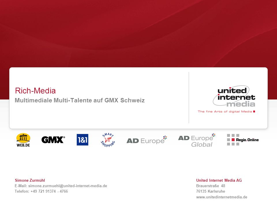 Multimediale Multi-Talente auf GMX Schweiz