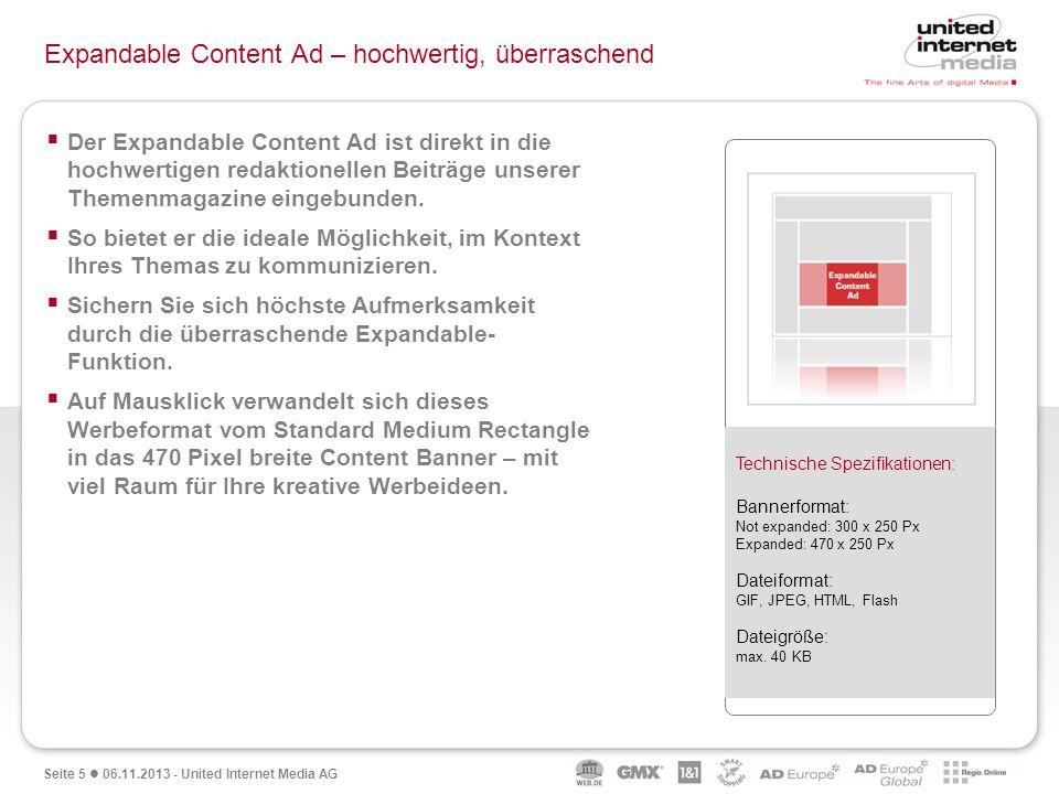 Expandable Content Ad – hochwertig, überraschend