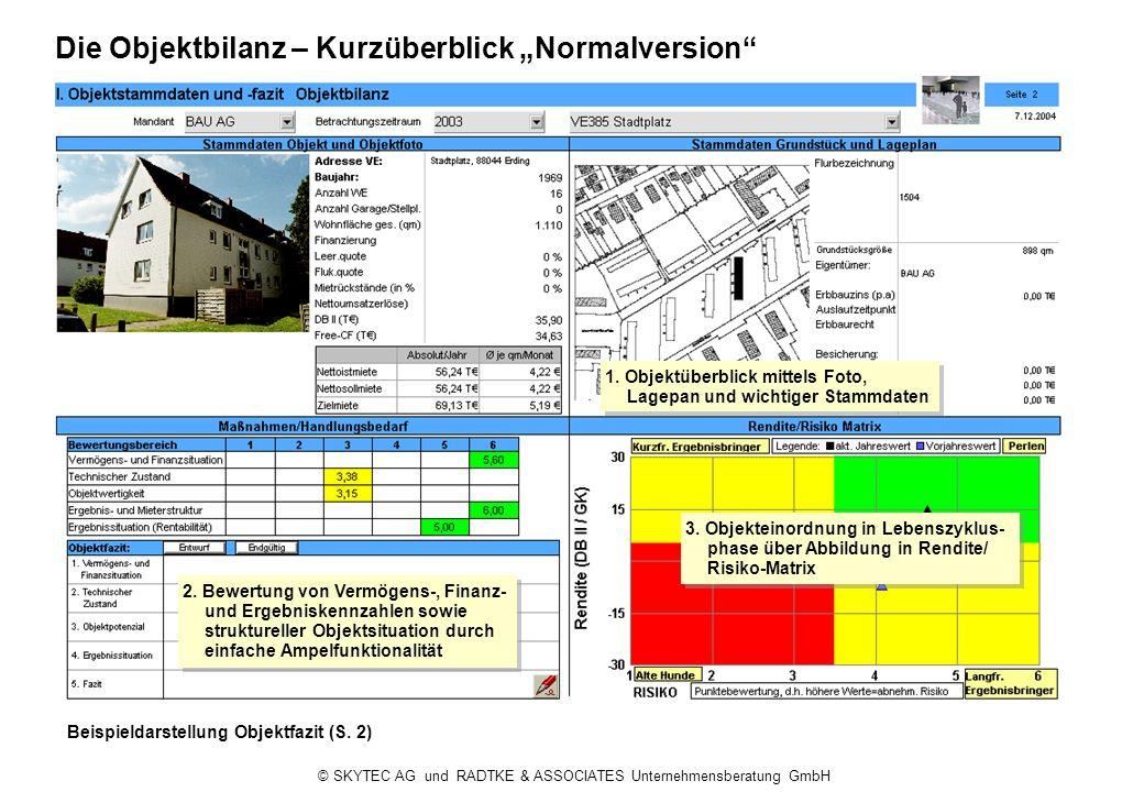 "Die Objektbilanz – Kurzüberblick ""Normalversion"