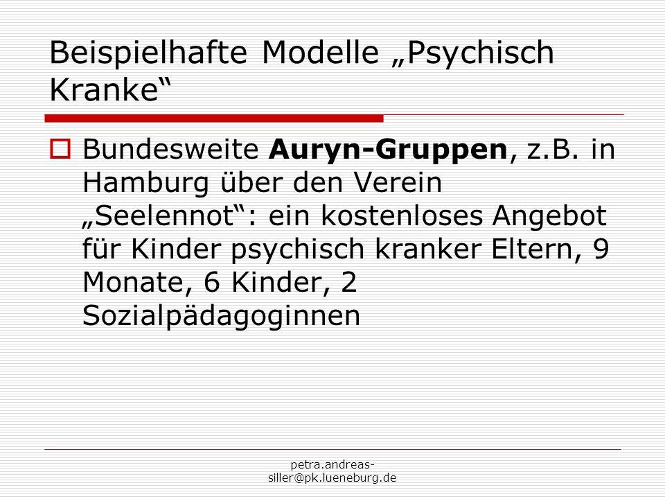 """Beispielhafte Modelle """"Psychisch Kranke"""