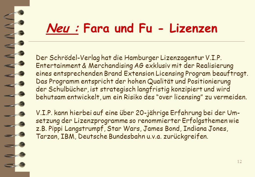 Neu : Fara und Fu - Lizenzen