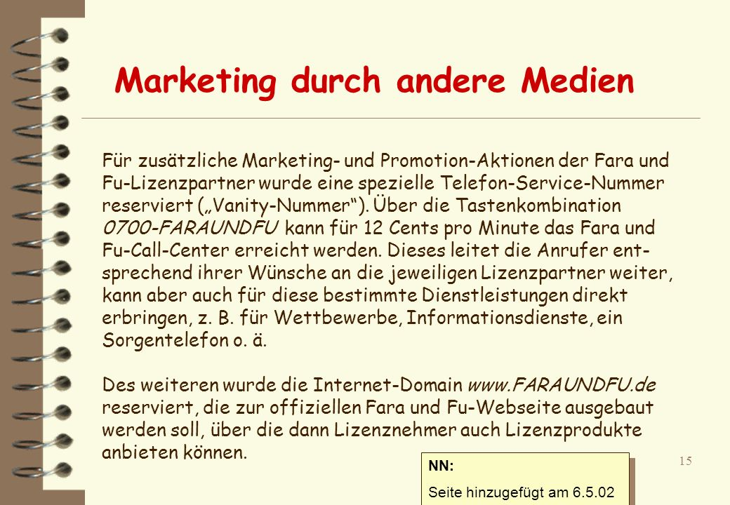 Marketing durch andere Medien