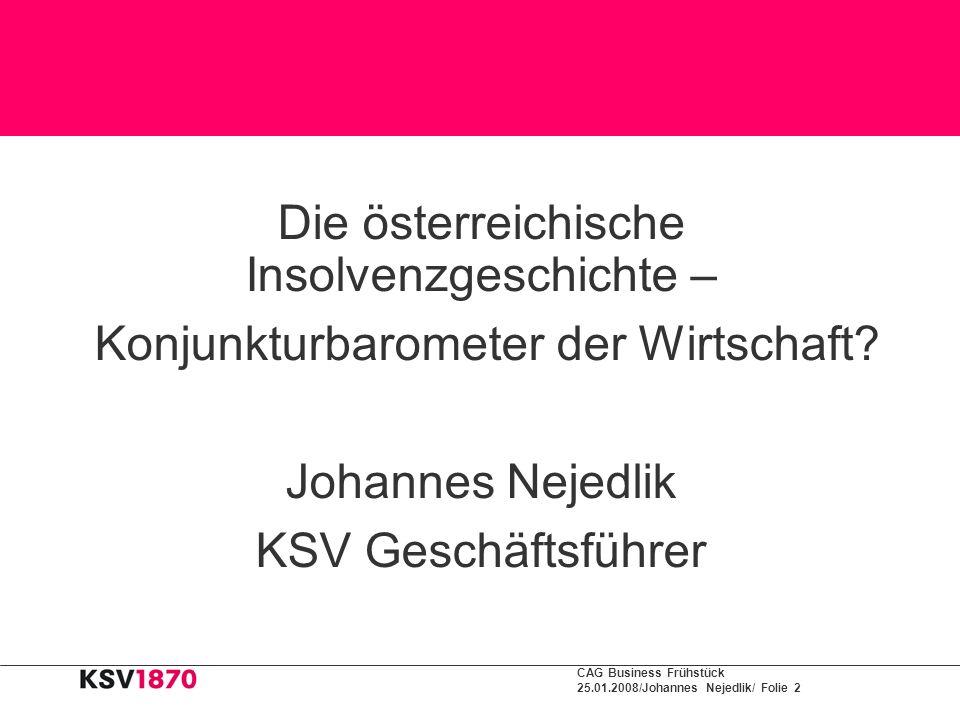 Die österreichische Insolvenzgeschichte –