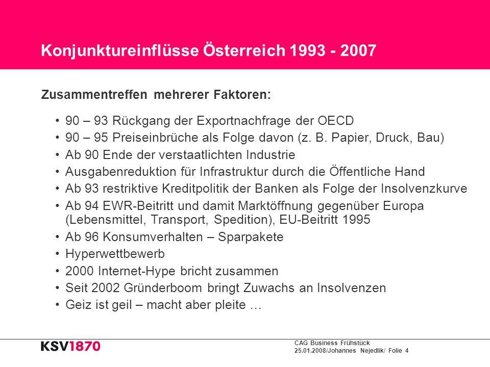 Konjunktureinflüsse Österreich 1993 - 2007