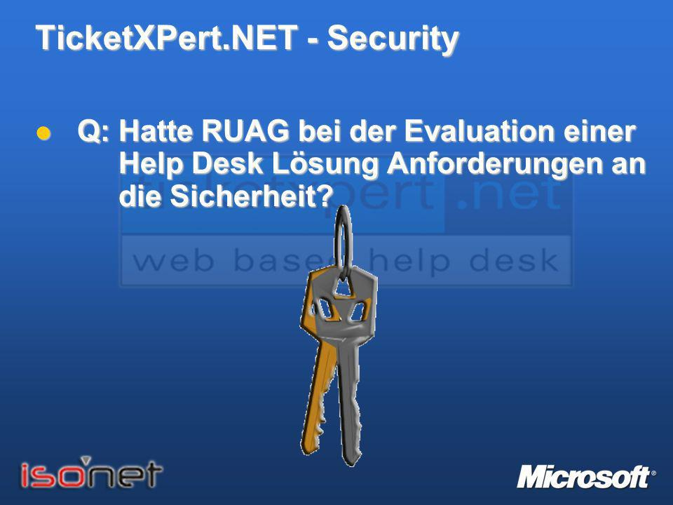 TicketXPert.NET - Security