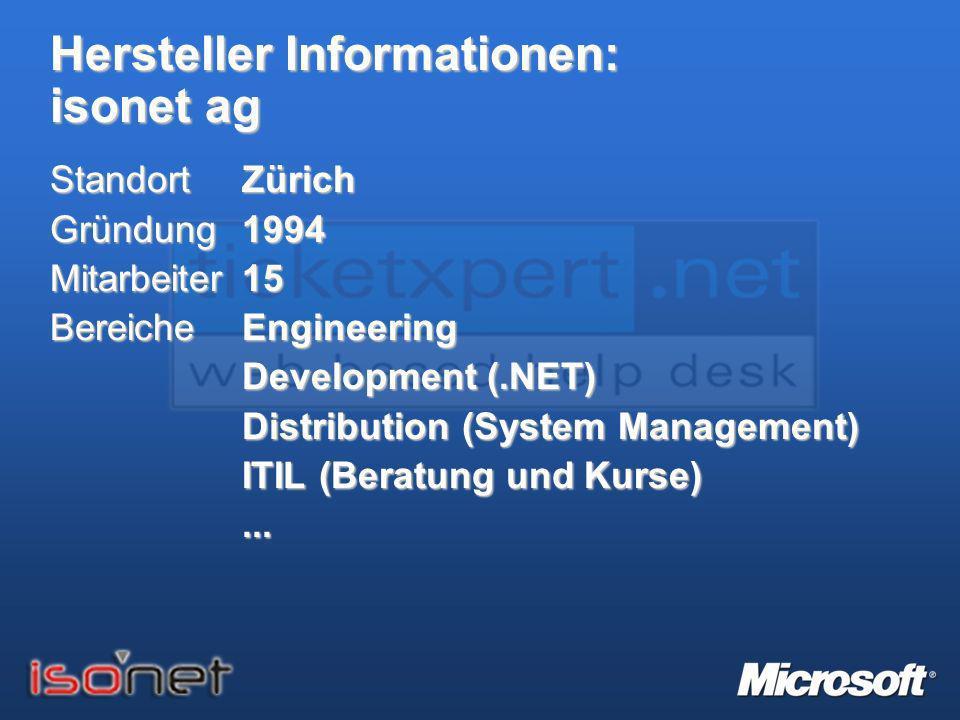 Hersteller Informationen: isonet ag