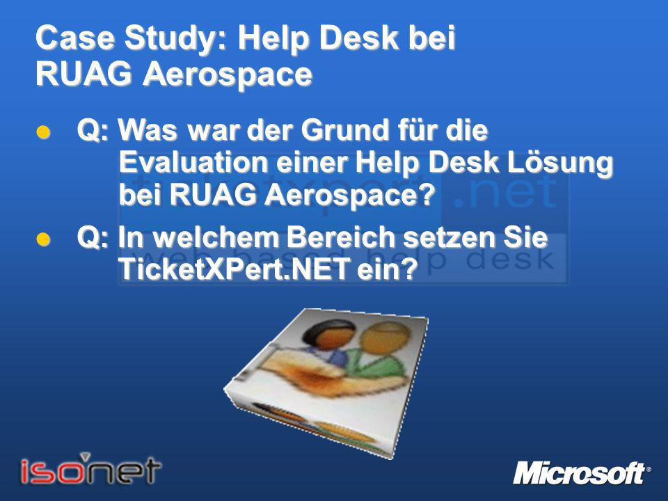 Case Study: Help Desk bei RUAG Aerospace